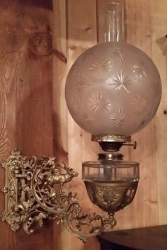 FANTASTIC ANTIQUE 1890's BRACKET LAMP WITH ELK & FOLIAGE in Antiques, Decorative Arts, Lamps | eBay