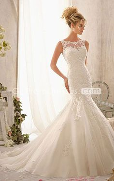 I love this dress but I would take the sheer neckline off and just leave it bare with the sweetheart neckline