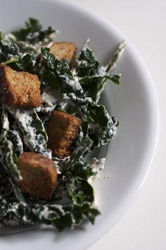 Tangy Kale Caesar Salad // Sacramento Street