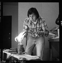 Larry Golsh (Pala Mission/Cherokee jeweler); 1970s photograph by Jerry Jacka. Heard Museum, Phoenix, Arizona [PCD251:777]