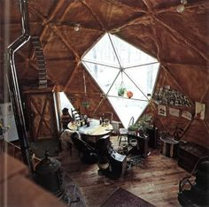 interior- don't forget the geodesic dome!
