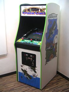 Galaxian. 1979. First video arcade game to use true, RGB color graphics.