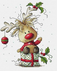 Cross-stitch scheme Christmas deer Embroidery pattern PDF Scheme of cross-stitch Christmas deer . High quality scheme for embroidery painting. In our store you can purchase high quality stitch patterns and schemes for embroidery paintings. All our schemes Xmas Cross Stitch, Cross Stitching, Cross Stitch Embroidery, Hand Embroidery, Embroidery Designs, Christmas Cross Stitch Cards, Embroidery Tattoo, Geometric Embroidery, Modern Embroidery
