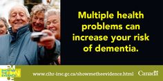 Accumulation of Health Problems Heightens Risk of Dementia http://www.cihr-irsc.gc.ca/e/48603.html