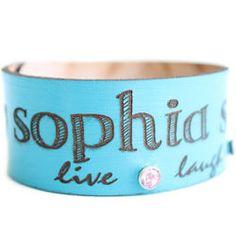 Custom Name Leather Bracelet