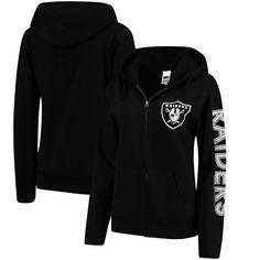 Oakland Raiders Women's Extra Point 2 Hit Full-Zip Hoodie - Black