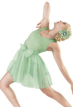 Get swept off your feet in this beautiful dance dress. #mint #lyrical #dress