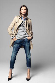trench coat casual wear, but veto high heels Fashion Mode, Look Fashion, Winter Fashion, Womens Fashion, Fashion Brand, Mode Outfits, Casual Outfits, Fashion Outfits, Fashion Tips
