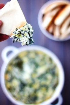 Spinach Artichoke Dip - always a guaranteed crowd-pleaser for holiday parties! | gimmesomeoven.com