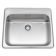 "American Standard 24SB.252283 25-5/8"" Single Basin Drop In Stainless Steel Kitch Stainless Steel Fixture Kitchen Sink Stainless Steel"