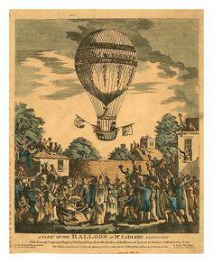07-- Globo de Mr Sandler's ascendiendo con el Capitan Paget de la Royal Navy en 1811