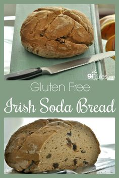 My gluten free Irish Soda Bread recipe takes the best of cake-style soda bread and makes it gluten, dairy, soy, nut, egg- and of course, yeast-free!