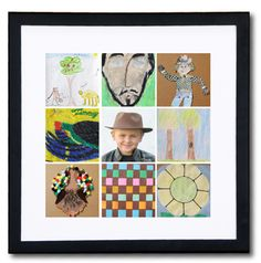 A great way to reduce clutter and preserve the memories is to take pictures of your child's art work. Get prints made and frame it.