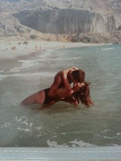 My Mother And Father Being Young And Awesome On Santorini Island, Greece, 1985. I Was Conceived There