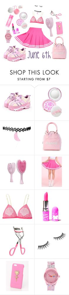 """""""Today's coord: magical girl"""" by princesse-raya ❤ liked on Polyvore featuring Trumpette, Lime Crime, Benefit, Harajuku Lovers, Victoria's Secret PINK, Pink, kawaii and magicalgirl"""