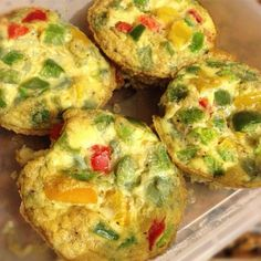 Mini frittatas de vegetales | Recetas para adelgazar