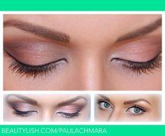 Neutral: peach and brown with a bit of sparkle | Paula C.'s (PaulaChmara) Photo | Beautylish