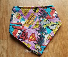 Check out this item in my Etsy shop https://www.etsy.com/listing/498570803/wonder-woman-bandana-bib-super-girls