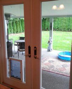 in glass pet door insert dog door - Sliding Glass Door With Dog Door Built In