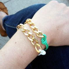 Take 5 minutes to make a stack of candy-colored bracelets with this easy step-by-step DIY.
