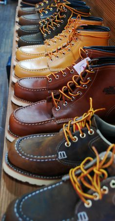 For me they are awesome Moc Toe Boots Men, Shoe Boots, Men Boots, Red Wing Moc Toe, Red Wing Boots, Mens Boots Fashion, Me Too Shoes, Leather Boots, Footwear