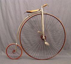 old bicycle: PENNYFARTHING!