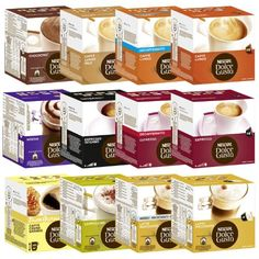 Nescafé Dolce Gusto Capsules All-inclusive Set, 51 Capsules - 36 Servings - http://thecoffeepod.biz/nescafe-dolce-gusto-capsules-all-inclusive-set-51-capsules-36-servings/