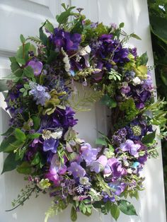 RESERVED FOR KIM summer wreath purple wreath by designsdivinebyjb