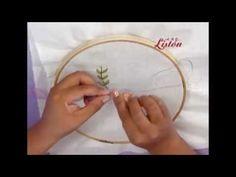 Carpeta bordada con listón - YouTube