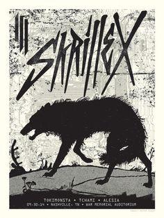 Skrillex Concert Poster, Nashville, TN Concert Posters, Gig Poster, Music Posters, Dj Electro, Retro Record Player, Rave Dance, Vintage Advertisements, Rock Music, Illustrators