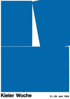 poster design for sailing event kieler woche - germany, 1964 - hans hillmann Poster Design, Logo Design, Design Resume, Art Deco Design, Icon Design, Corporate Design, Freelance Graphic Design, Illustrations, Grafik Design
