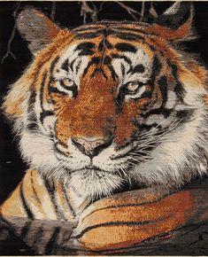 Animal Kingdom - Tiger - Samad - Hand Made Carpets  #orange #rug #carpet #orangerug #modernrug #livingroomrug #arearug #tiger #tigerrug #tigercarpet Tiger Rug, Pet Tiger, Tiger Home, Orange Rugs, Home Rugs, Modern Rugs, Animal Kingdom, Carpets, This Is Us
