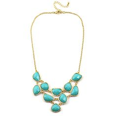 Shapped Gemstone Collar Necklace - Sam Moon