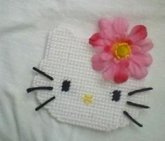 Hello Kitty Plastic Canvas Patterns | photos not available for this variation Plastic Canvas Patterns, Magnets, Hello Kitty, It Is Finished, How To Make, Photos, Handmade, Pictures, Hand Made
