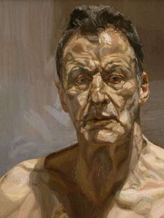 This is Lucian Freud's study named 'Reflection', created in 1956. Freud interests me because of his relevant fascination with understanding the physical and mental mindset of the people he painted; portrayed through how he creates similar compositions of the same people, posing in different positions. I think this is a really interesting aspect of his painting along with the thick brush marks he makes with oil paint, layering the paint to help build depth.