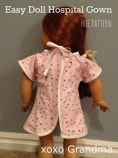 girl doll clothes xoxo Grandma: 30 Things to Make for an American Girl Doll - Free Patterns & Tutorials American Girl Doll Hospital, All American Girl Dolls, American Doll Clothes, My Life Doll Clothes, Sewing Doll Clothes, Barbie Clothes, Doll Sewing Patterns, Doll Clothes Patterns, Dress Patterns
