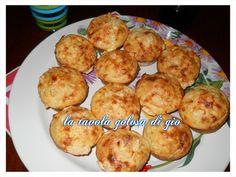muffin di patate e provola affumicata