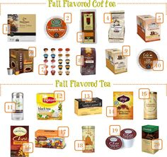 The ultimate fall flavored coffee and tea shopping guide! #NationalCoffeeDay