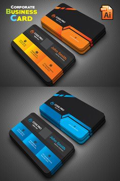 Business Card Maker, Create Business Cards, Business Cards Online, Business Cards Layout, Professional Business Card Design, Black Business Card, Modern Business Cards, John Smith, Visiting Card Design