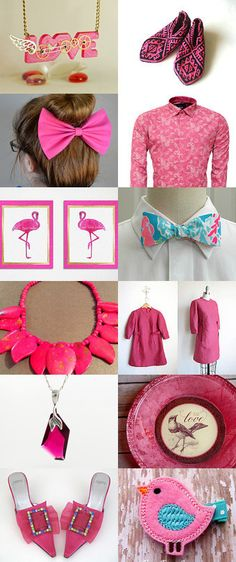 Hot Pink  by Sinem Morgan on Etsy--Pinned with TreasuryPin.com