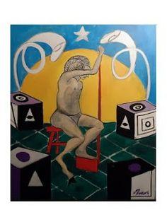 Pintura de Mark Swiiter - Ser Mitológico - Simbolismo
