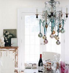 I want a chandelier like this. And I will hang ornaments and beads from it... all year round.
