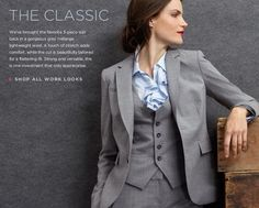 Banana Republic Classic Womens 3 Piece Suit