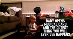 Baby Opens Musical Card And Th Cutest Thing You Will Ever See Happens!!! <3