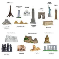 "Safari Ltd ""Around the World"" and ""World Landmarks"" TOOB set Safari http://www.amazon.com/dp/B00LI1O1M8/ref=cm_sw_r_pi_dp_qbViub0QVGXWK"