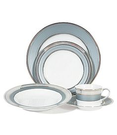 Lauren Ralph Lauren Silk Ribbon Slate China #Dillards