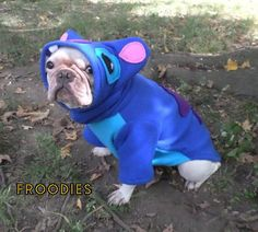 French Bulldog Boston Terrier Pug Dog Froodies Hoodies Halloween Costume Cosplay Lilo and Stitch Fleece Jacket Sweatshirt Coat by FroodiesHoodies on Etsy https://www.etsy.com/listing/249298123/french-bulldog-boston-terrier-pug-dog