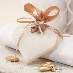 Quilted Heart Shaped Favour Box - 10 Pack