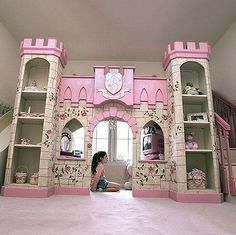 Make Girl Little Castle Kids Bedroom def. would spoil my little girl like this!