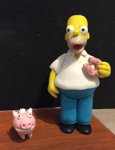 Homer Simpson Caketopper Fimo